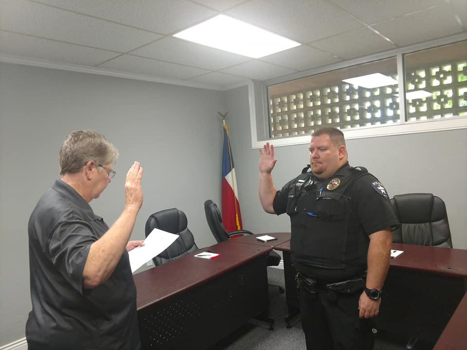 A photo from the Sunray Police Department's Facebook page shows Bohlar was sworn-in as a Sunray Police Department officer in June.<p></p><p></p><p></p><p></p><p></p><p></p>