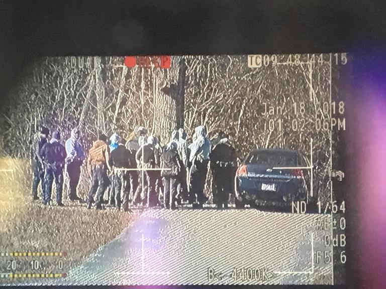Authorities search an area off Highway 58 Thursday. (Image: WTVC)<p></p>