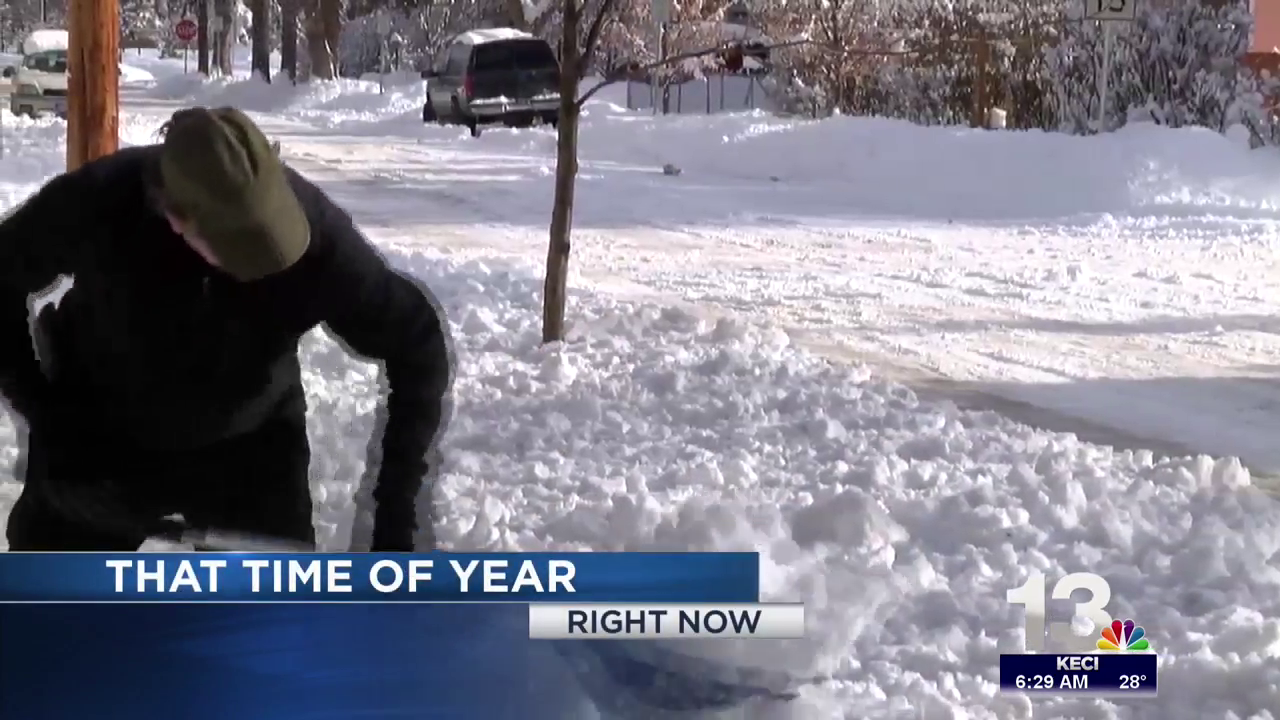 Montanans dig out after heavy snowfall.
