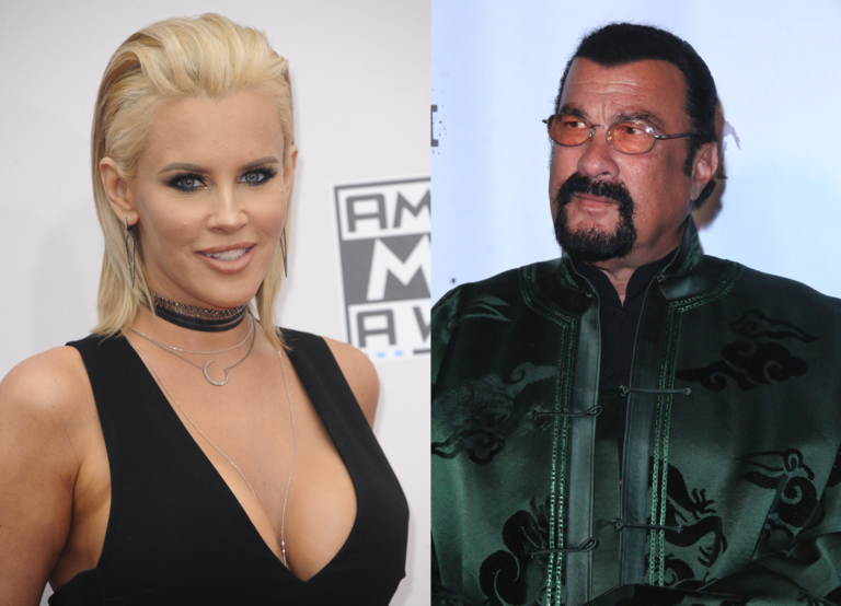 "Jenny McCarthy (left) has accused Steven Seagal (right) of sexually harassing her during an audition for ""Under Siege 2: Dark Territory."" (WENN)"