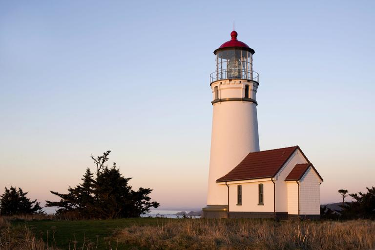 Cape Blanco is the farthest western point in Oregon, and the lighthouse, built in 1870, is the oldest standing lighthouse on the Oregon Coast. [123rf.com]