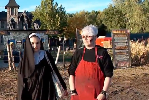 Autumn Satterfield says she was sexually assaulted while playing her role of the nun at Haunted Hollow. (Photo: KUTV)