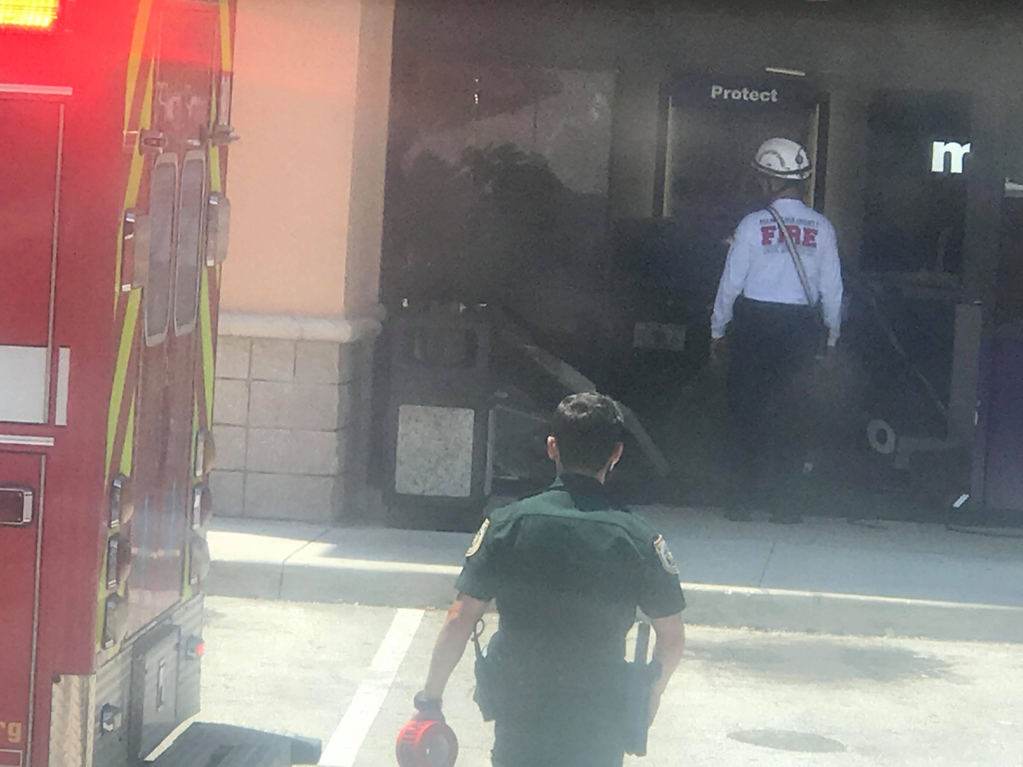 Car crashes into MetroPCS store in Wellington. (Viewer photo used with permission from Carlos Mahecha)