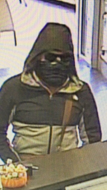 The East Greenwich Police Department is searching for a man who robbed a bank Wednesday, Nov. 7, 2018. (Police photo)