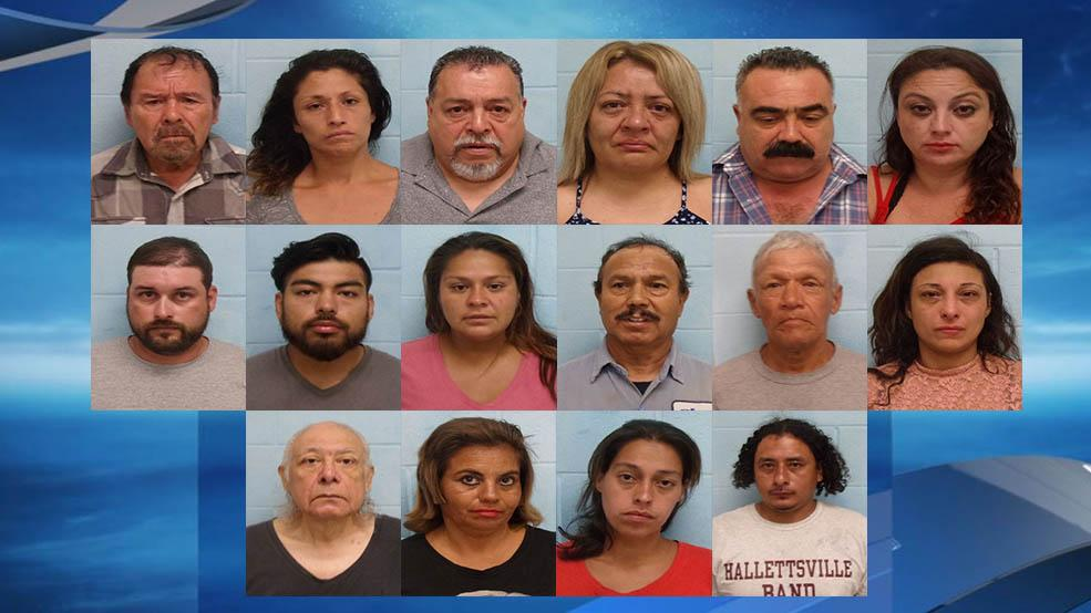 McAllen police arrested 16 people during a two-day prostitution sting.{ } (Source: McAllen Police Department)