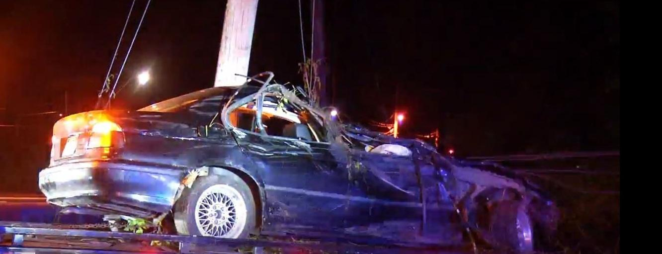 Photo shows the damaged vehicle after it is loaded onto a flatbed. (WCHS/WVAH)