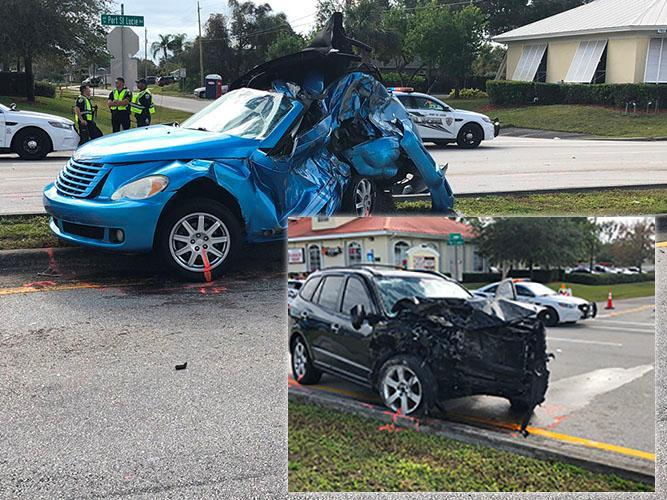 Officers investigate fatal crash in Port St. Lucie. (PSLPD)