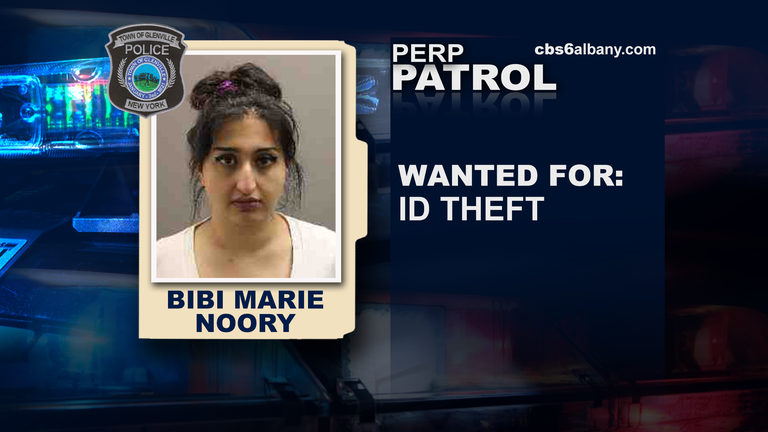 Bibi Marie Noory is wanted for ID theft.{ }