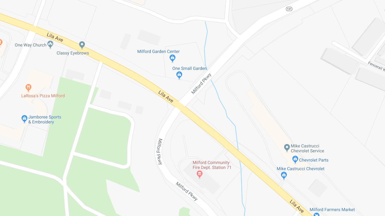 Two cars and motorcycle involved in crash in Milford (WKRC/Google Maps)