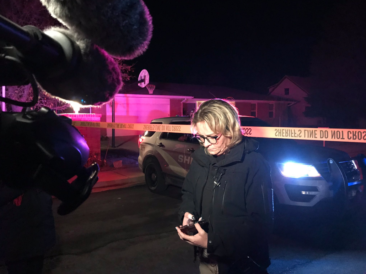 Cpl Rhonda Fields of Grantsville PD gives updated information to reporters on Friday, Jan. 17, 2020 after 4 people were shot and killed in Grantsville. A fifth person was injured in the shooting. (Photo: Jeremy Harris / KUTV)