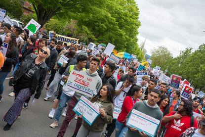 Resultado de imagen para May Day events planned in Portland and Salem; Police ask crowds to demonstrate peacefully