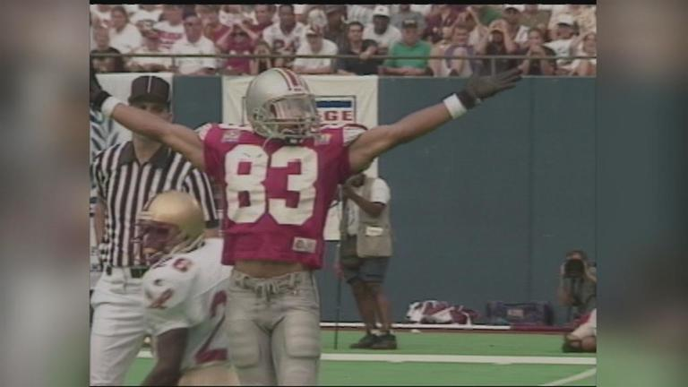 File photo of Terry Glenn when he played for the Ohio State Buckeyes in the mid-1990s. (WSYX)<p></p>