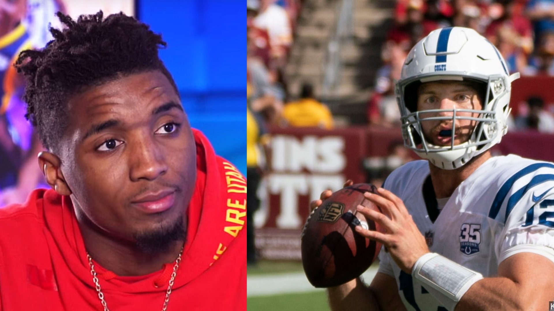 Donovan Mitchell joins many professional athletes and other public figures who support Indianapolis Colts quarterback Andrew Luck's decision to retire. (Photos: MGN)