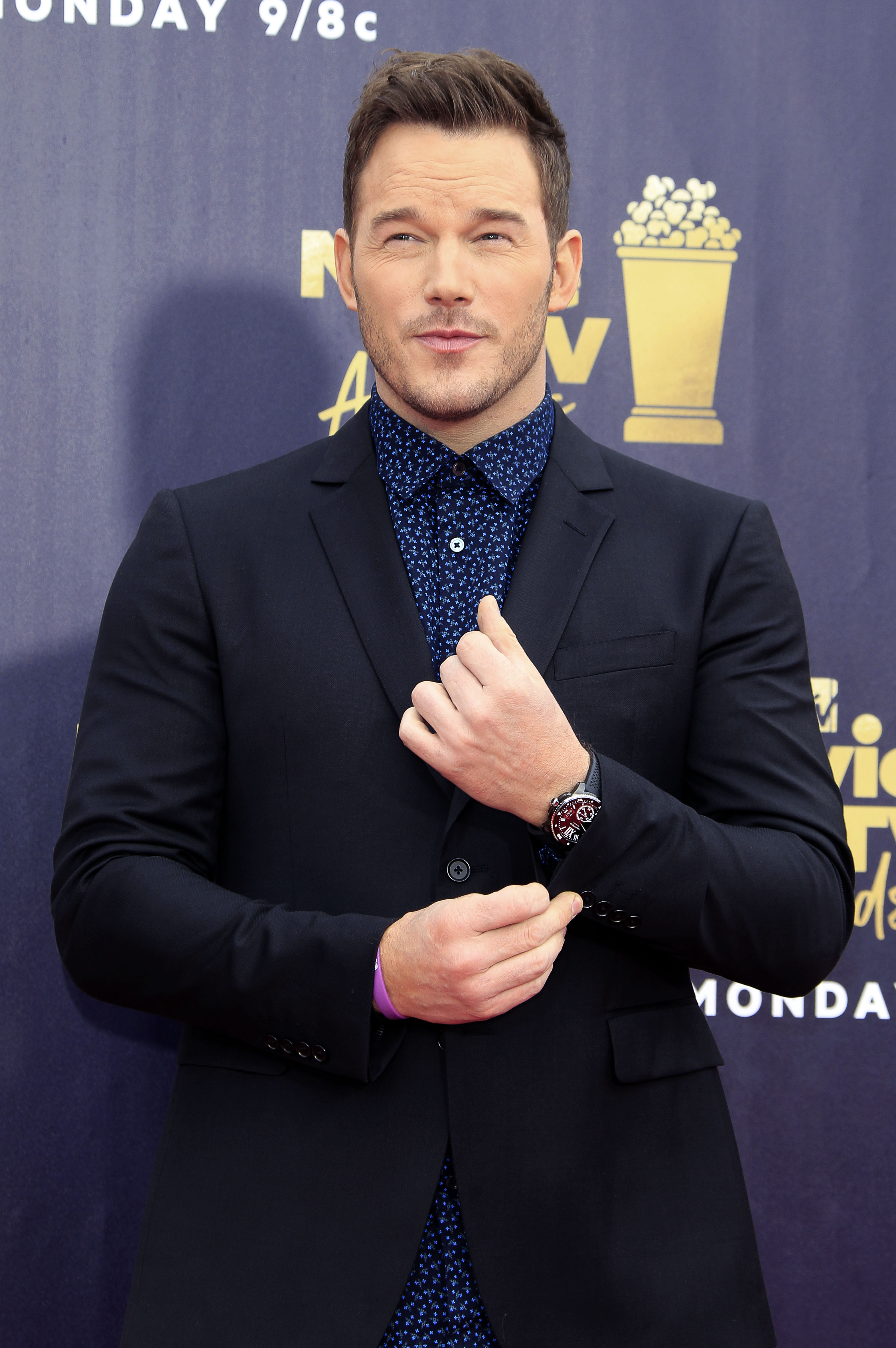 Chris Pratt at the 2018 MTV Movie & TV Awards held at Barker Hangar in Santa Monica, California. (When: Jun. 16, 2018. Credit: Dave Bedrosian/Future Image/WENN.com)
