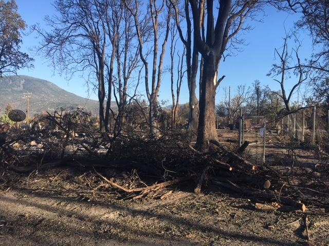 The property destroyed by the Klamathon Fire that took the life of John Bermel, who was loading up his truck to evacuate on July 5, 2018.