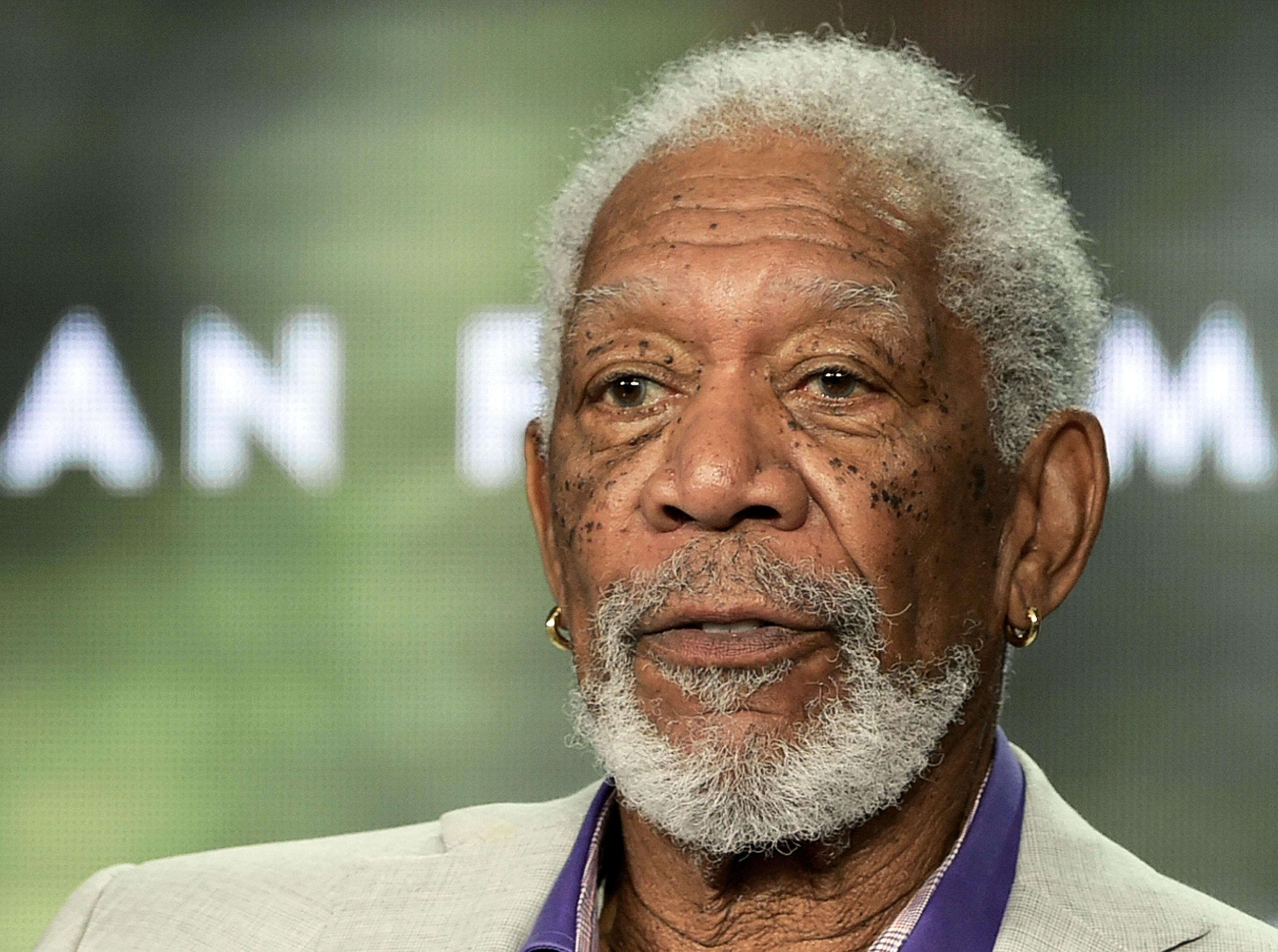 "FILE - In this Feb. 10, 2019 file photo, Morgan Freeman participates in the ""Story of God"" panel during the National Geographic portion of the TCA Winter Press Tour in Pasadena, Calif. Oscar winners, Freeman, Robert De Niro and Tommy Lee Jones soon will be on their way to New Mexico to start work on ""The Comeback Trail.""{ } (Photo by Richard Shotwell/Invision/AP, File)"