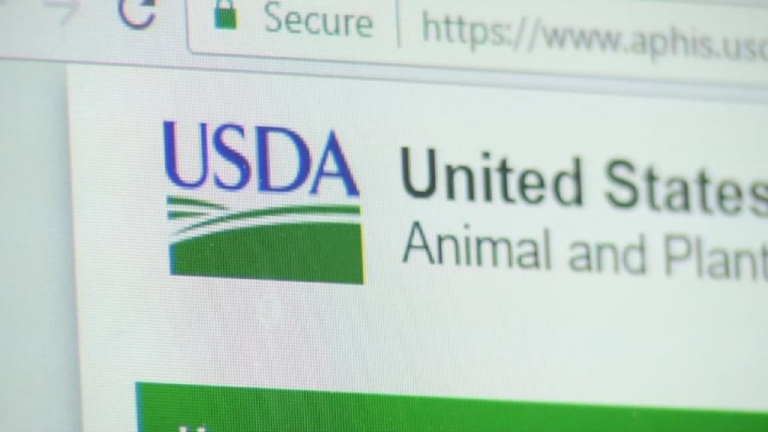The U.S. Department of Agriculture's removal of animal welfare reports from its website draws fire from one local animal rights group. (Photo credit: WLOS Staff)