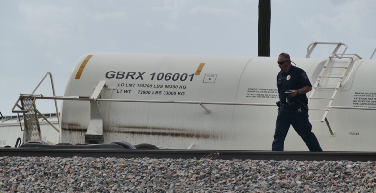 A train has derailed on the west side of Panhandle on Tuesday afternoon. (Courtesy: ABC 7 Amarillo-Steve Douglass)