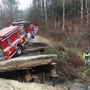 Fire truck goes in creek on way to Weaverville house fire