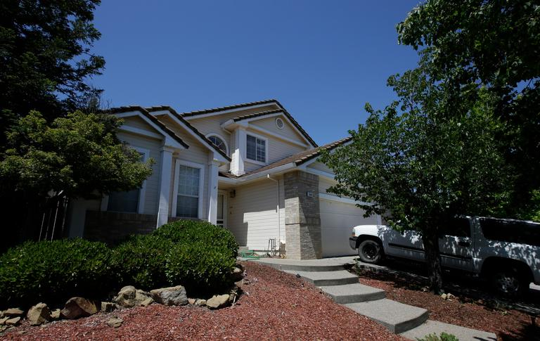 The home of Ina Rogers and her husband, Jonathan Allen, is seen Monday, May 14, 2018, in Fairfield, Calif. Authorities removed the 10 children living at the home on March 31 and placed them in protective custody after one of them ran away. Ina Rogers faces charges of child neglect and her husband Jonathan Allen has been charged with torture and child abuse. Ina Rogers denied the children were mistreated. (AP Photo/Rich Pedroncelli)
