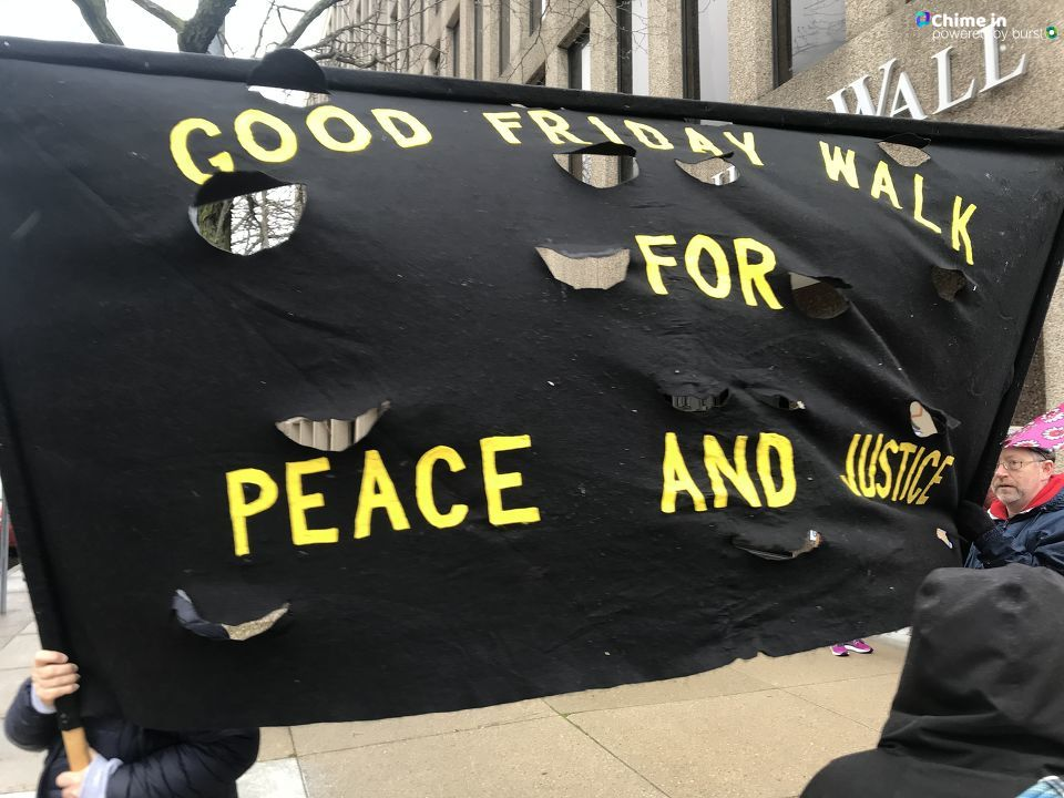 Dozens march in 'Walk for Justice' on Good Friday in Dayton (WKEF/WRGT)