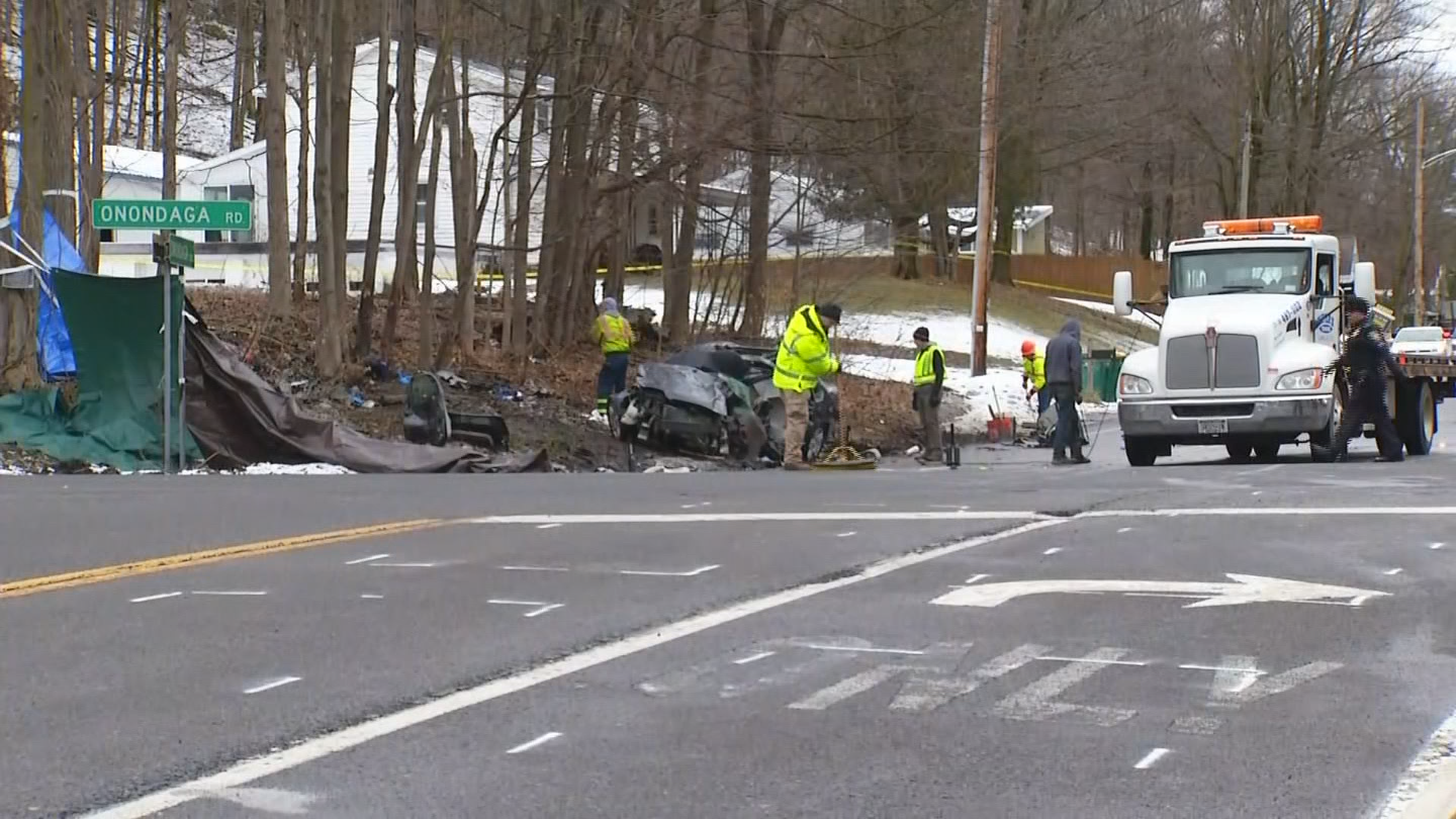 State police say a Chevrolet Impala was going through the intersection when it was t-boned by a GMC Arcadia SUV. State police believe the SUV had run through a red light.