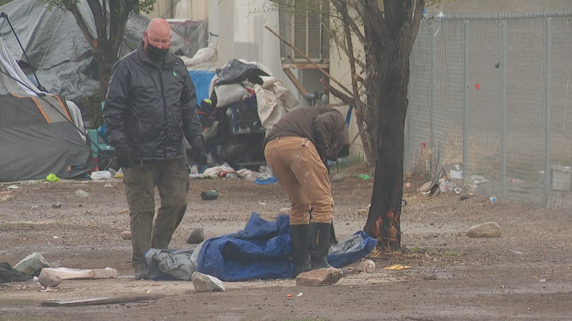 The Salt Lake County Health Department cleared out an encampment on the city's Fleet block earlier this week. (File photo: KUTV)