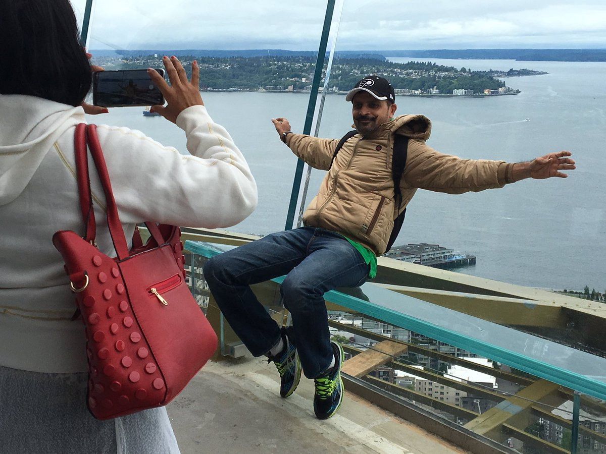 The new benches called &quot;Skyrisers&quot; are slanted back so you can sit back and take a selfie over the city. This is all part of the Space Needle's $100 million renovation. (KOMO News){&amp;nbsp;}<p></p>