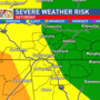 Windy and stormy Saturday: Stay alert as severe storms are possible