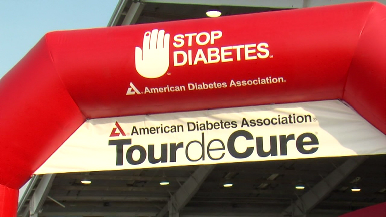 Walkers and cyclists are on the move to help stop diabetes Sunday morning. (WKRC)
