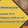 Billing for street maintenance fee begins on January 1