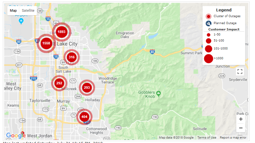 Power Outage In Salt Lake City Impacts Nearly 5 000 Kjzz