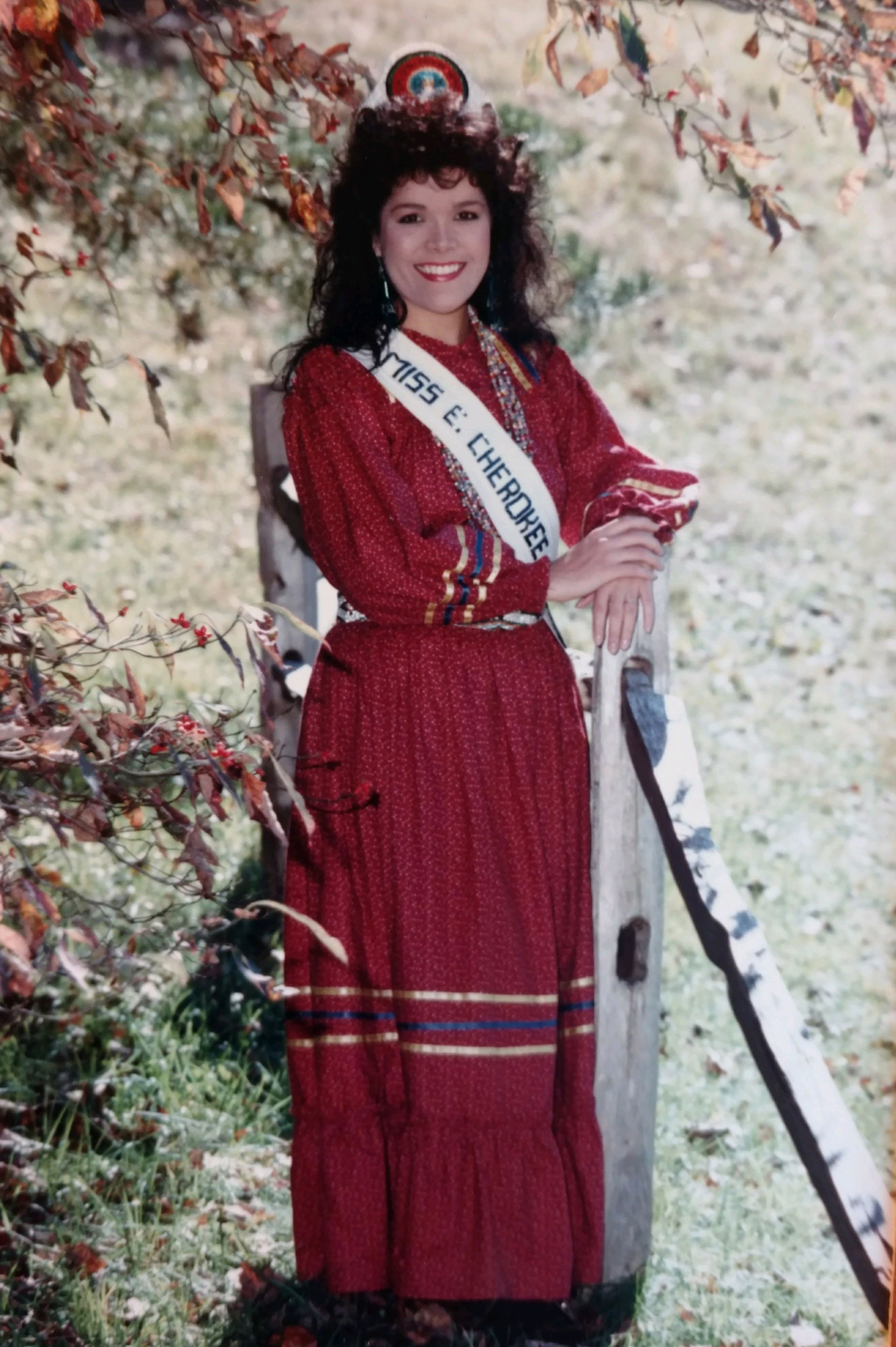 Lori Sanders was crowned Miss Cherokee in 1989. (Photo credit: Lori Sanders)