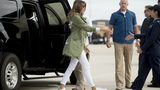 Melania Trump wears jacket saying 'I REALLY DON'T CARE' boarding plane to Texas