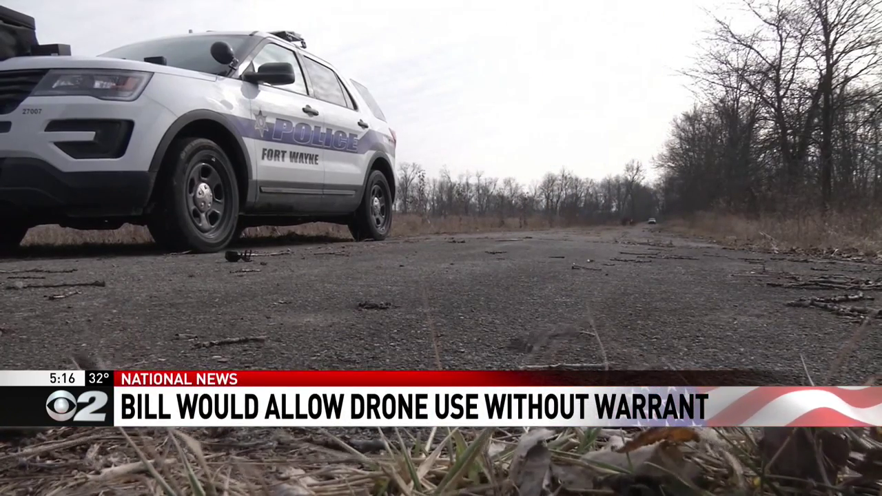 Bill would allow police to use drones without a warrant. (KUTV)