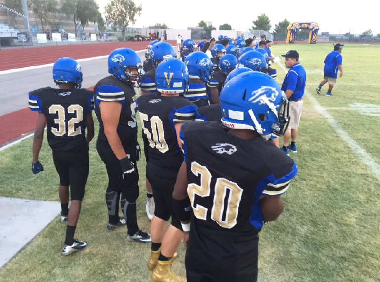 Operation Football 8/26/16: Sierra Vista Mountain Lions take on the Moapa Valley Pirates (Dominick Lee | KSNV)