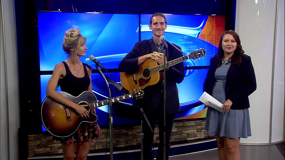 Andrea Davidson and Peter McKewon perform on noon show