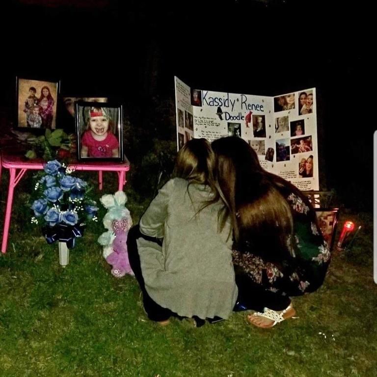 Vigil for 2-year-old Kassidy Dains (Provided by Krystal Dains)