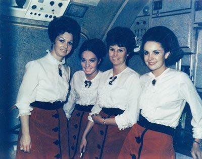 Alaska Airlines uniforms from the 1960s. Photo courtesy Alaska Airlines