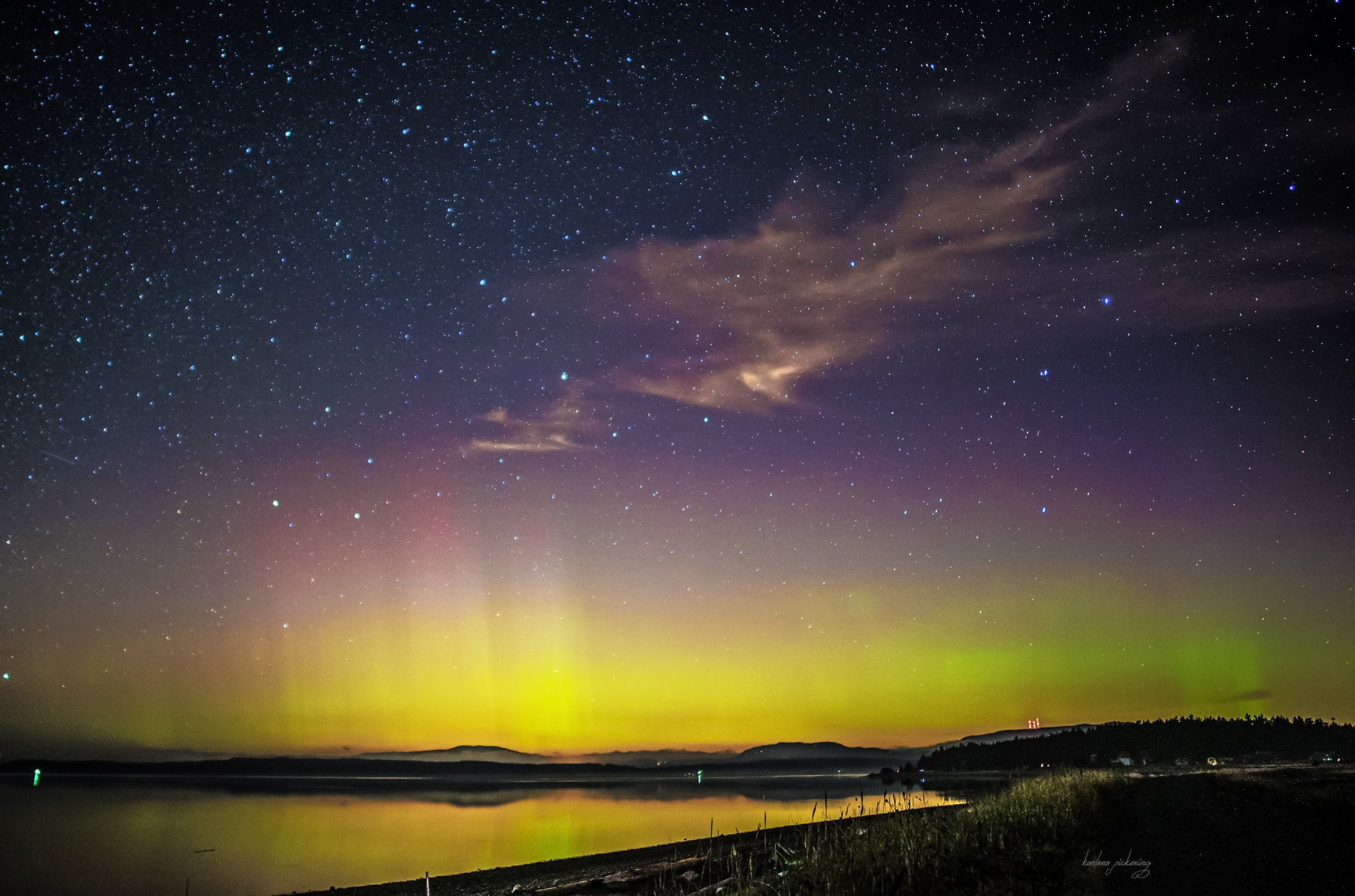 Northern Lights (Photo: LVP Lopez Island/Twitter)