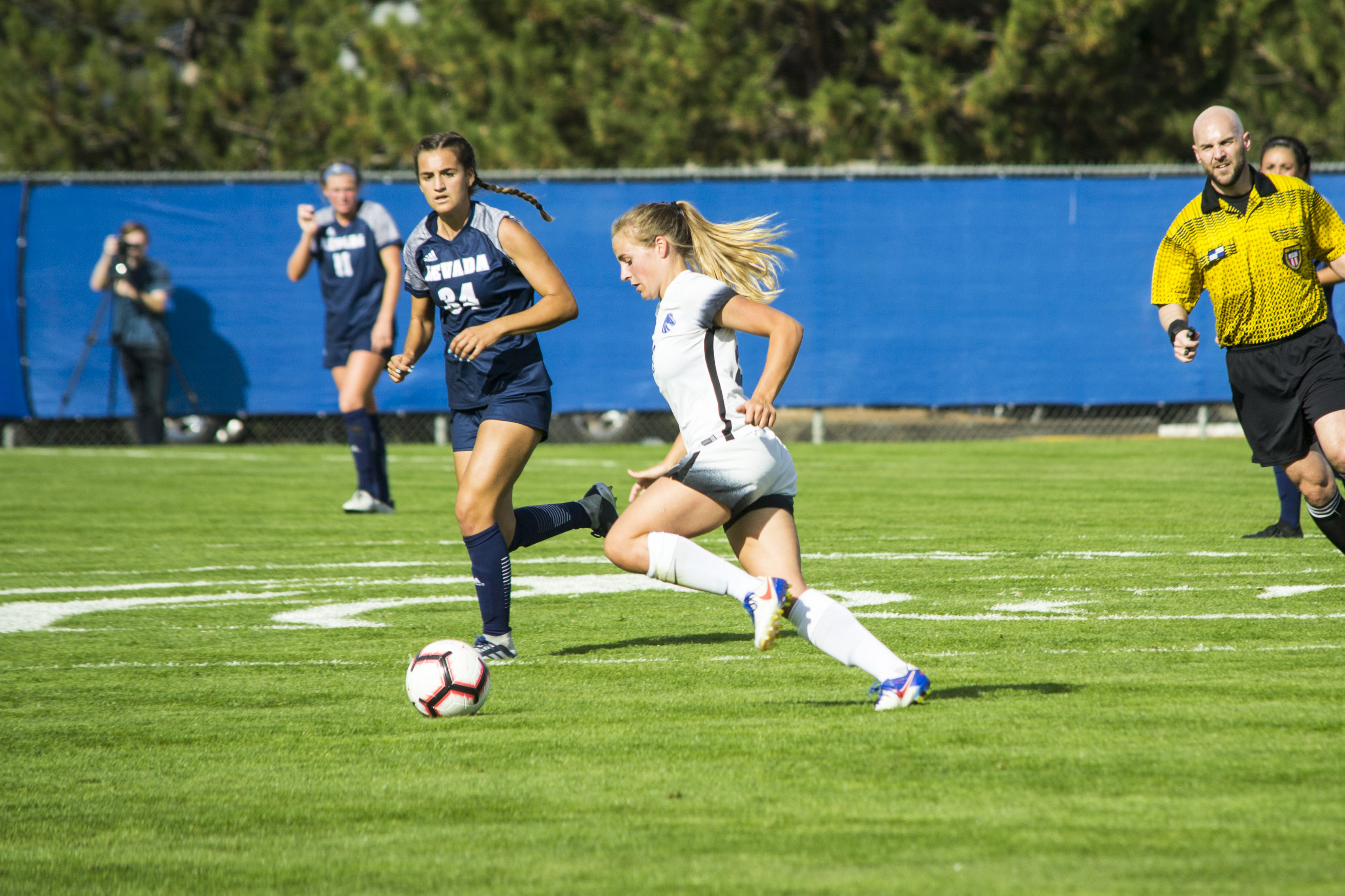 The Boise State Soccer Team played the Nevada Wolf Pack Friday in Boise. The Broncos won 2-1. (Kristen McPeek Photo)
