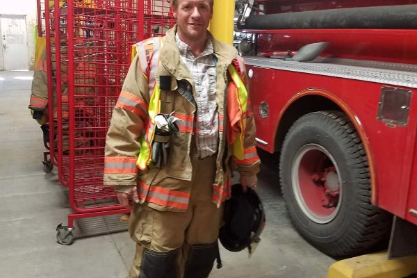 Volunteer firefighter for the Dalhart Volunteer Fire Department, Ryan Beattie, suffered a heart attack while fighting a grass fire near Dalhart on Thursday. (Photo courtesy of GoFundMe page set up for Beattie)