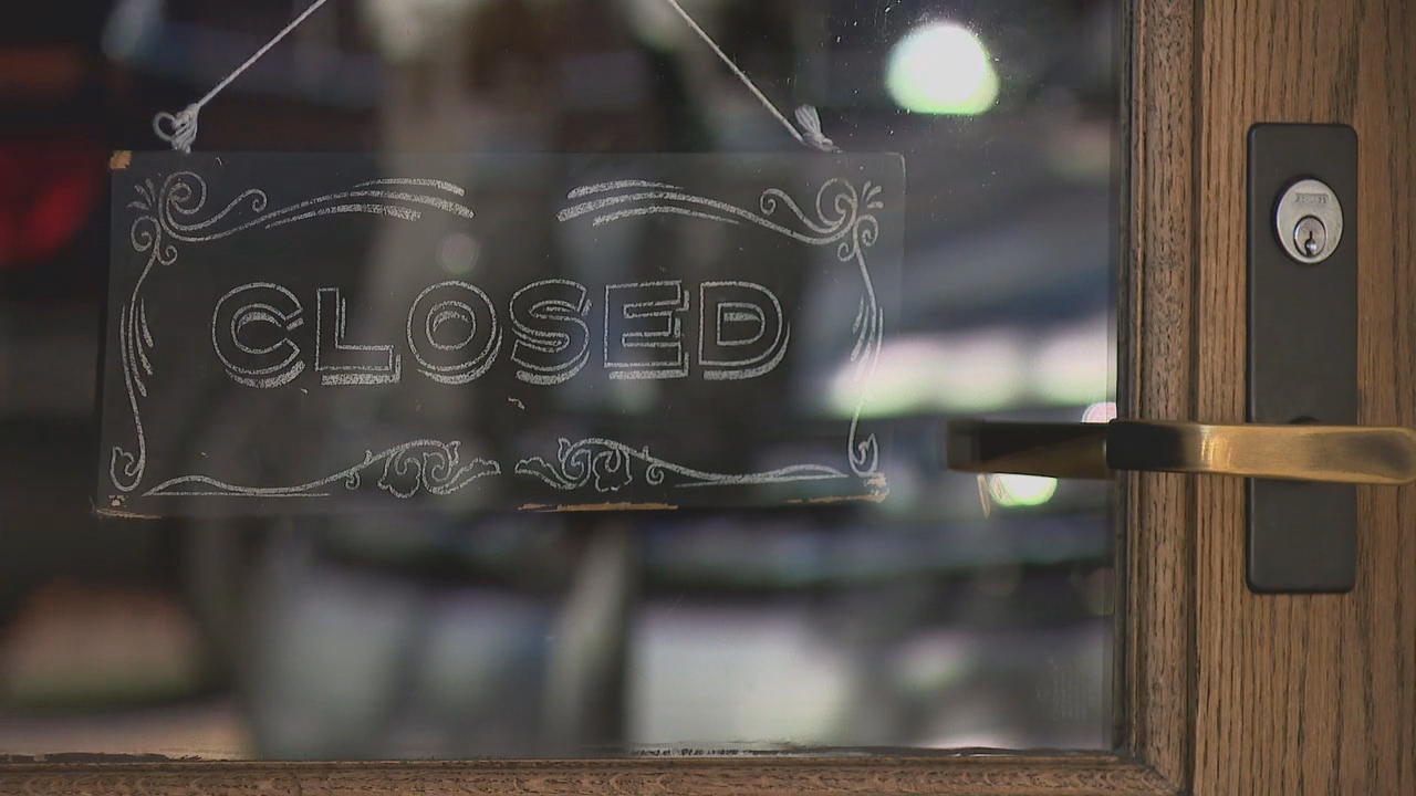 FILE - Bars closed in Asheville, North Carolina due to the COVID-19 pandemic. (Photo credit: WLOS Staff)