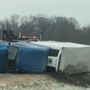 Two injured in semi rollover crash on Indiana Toll Road