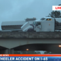 Jackknifed 18-wheeler accident involving entrapment on I-65 SB