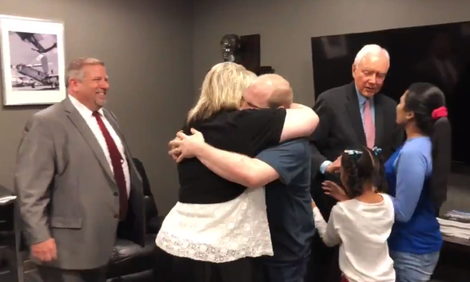 Utahn Josh Holt is reunited with his parents after two years in a prison in Venezuela. He was released and returned to the U.S. Saturday, May 28, 2018. (Photo: Sen. Orrin Hatch's office)<p></p>