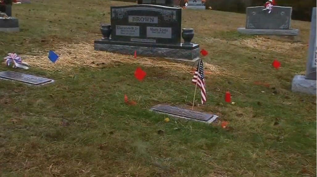 Picture shows the cemetery plot Leslie Marty's mother bought for her years before her killer ever released the location where she was buried. (WCHS/WVAH)