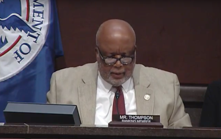 Ranking Member Rep. Bennie Thompson, D-Miss. Photo Credit: Homeland Security Committee/ YouTube