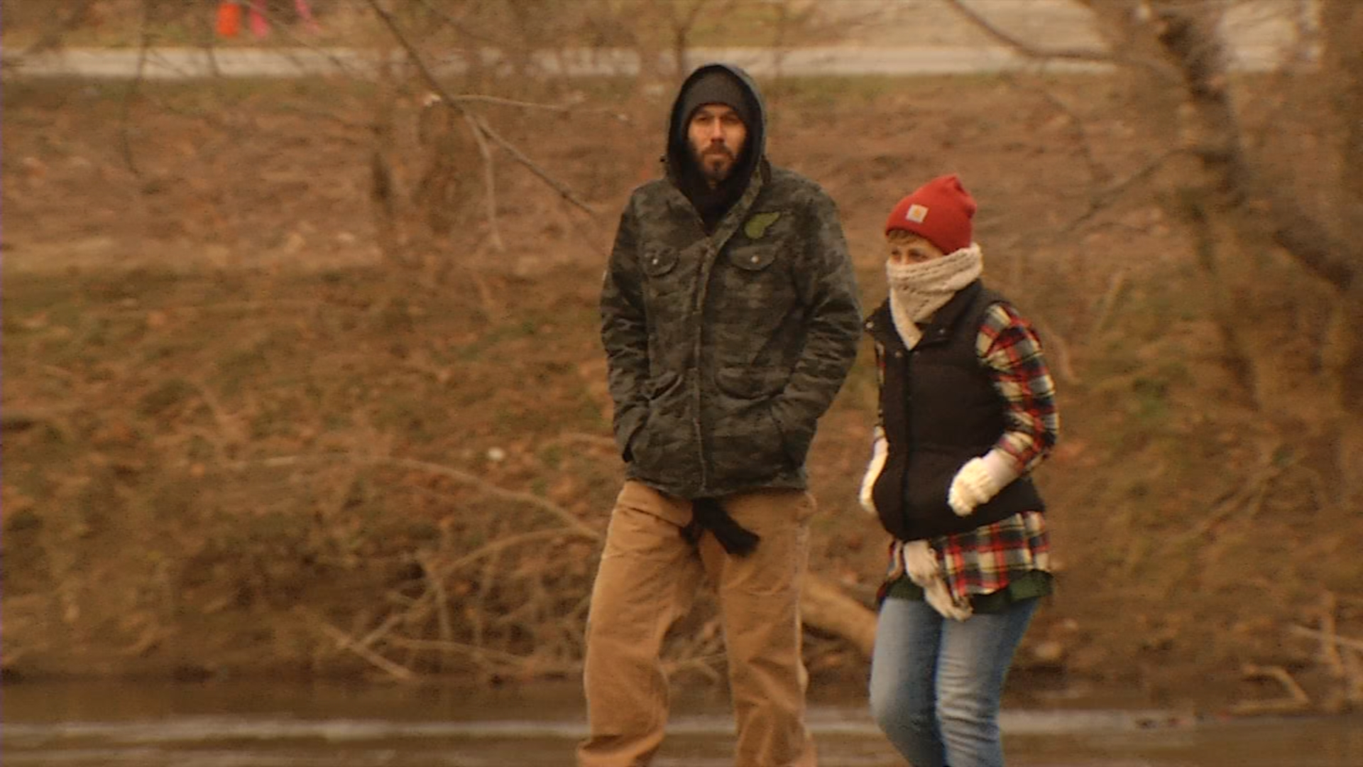 We saw a few people trying to cover their face (Courtesy: WLOS)