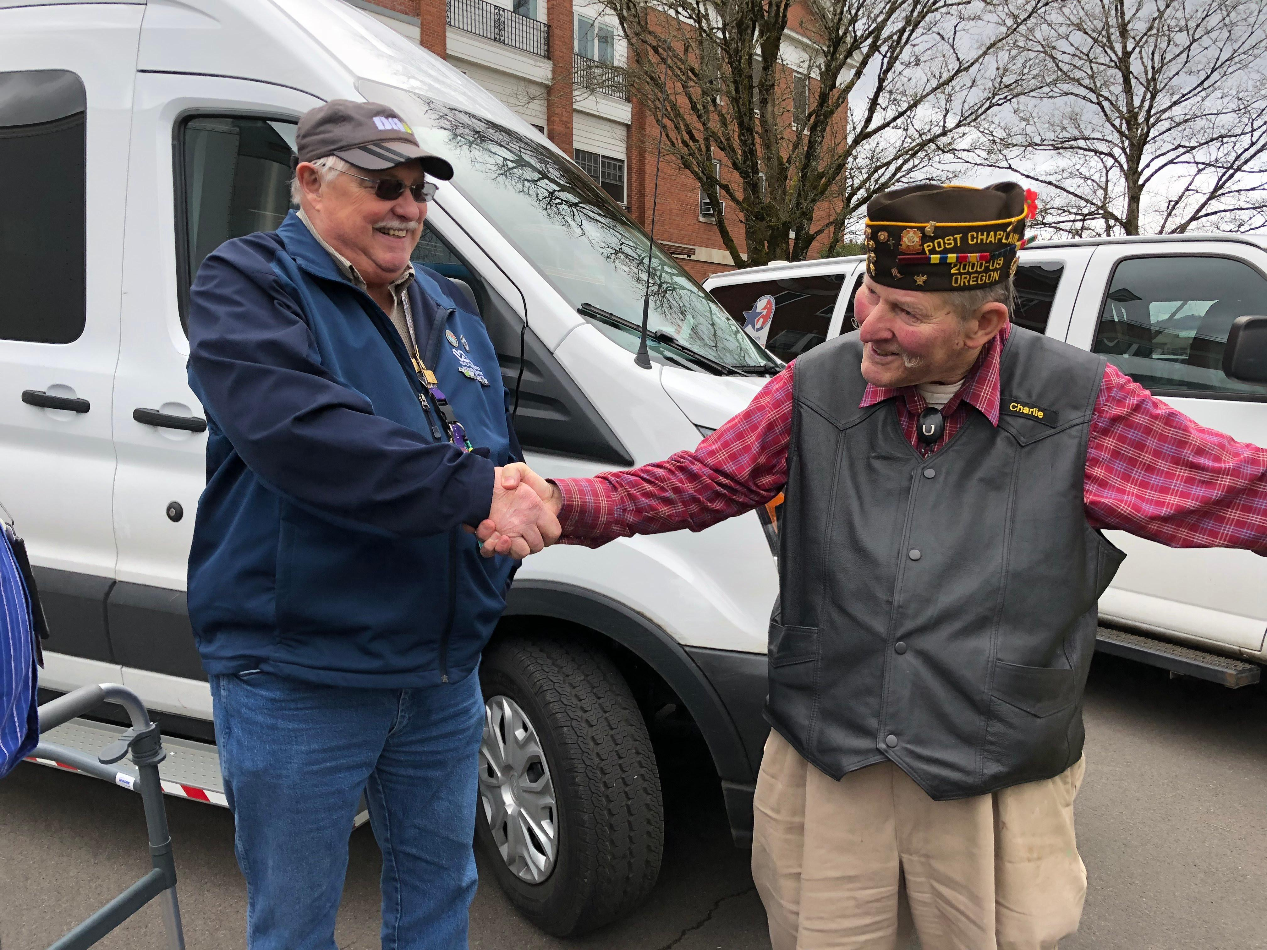 "Howerton says he sometimes puts in 14 hour days to help veterans get to where they need to go.""Just makes me happy that I'm fulfilling something in my life that I can give back,"" he said. (SBG)"